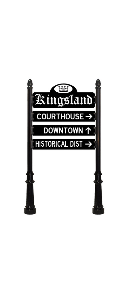 wayfinding signs kingsland