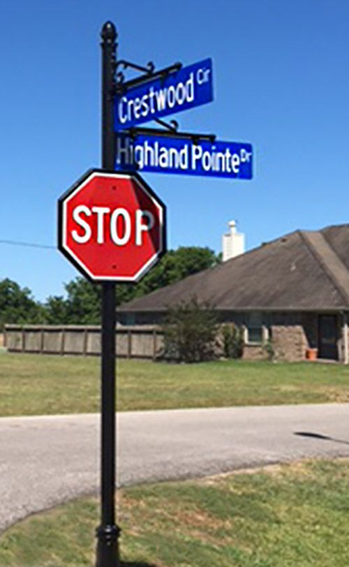 Highland Pointe Decorative Street Signs