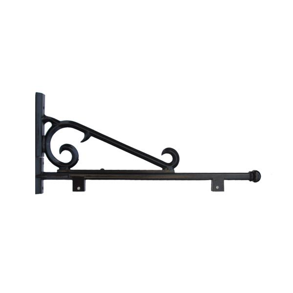 Decorative Sign Post Arm with Scroll and Bracket