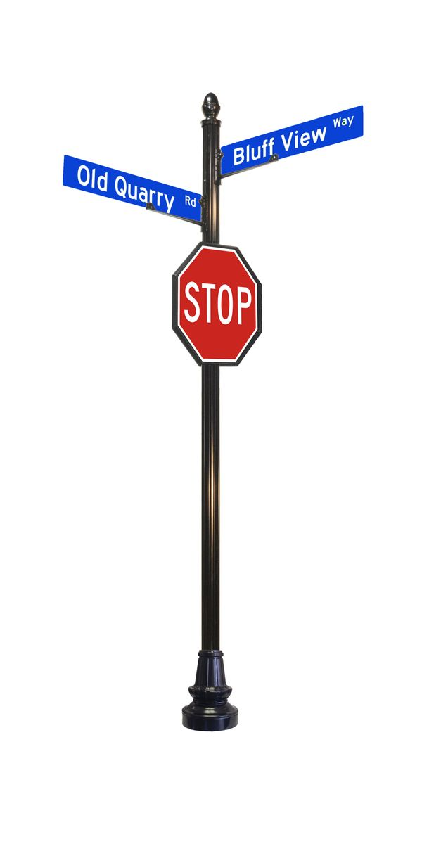 24 inch stop sign with street signs