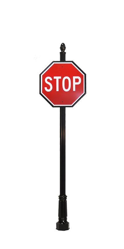 decorative stop sign and hardware
