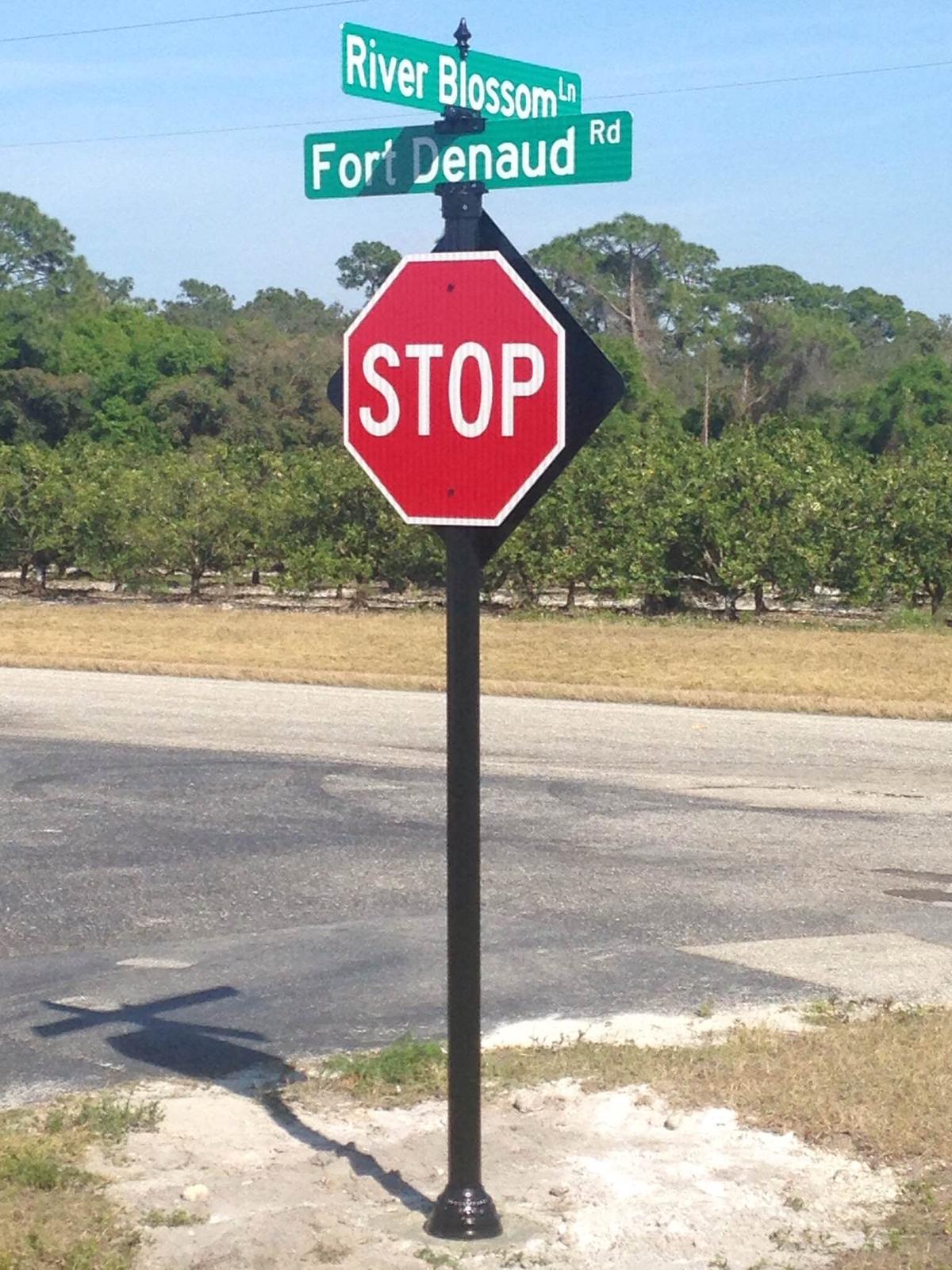 Ft Denaud Florida Decorative Stop Sign