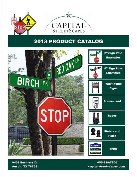 2013 street sign catalog