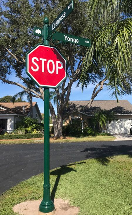 Decorative street signs in Florida