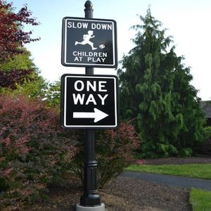 Custom traffic sign from capital streetscapes