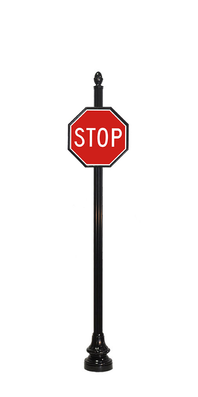 4 by 24 inch sign pole for stop sign
