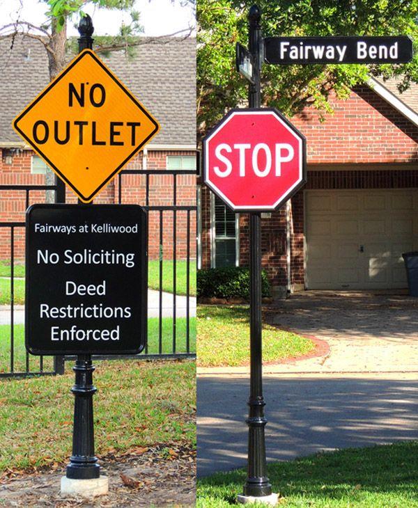 Fairways at kelliwood Neighborhood Street Signs