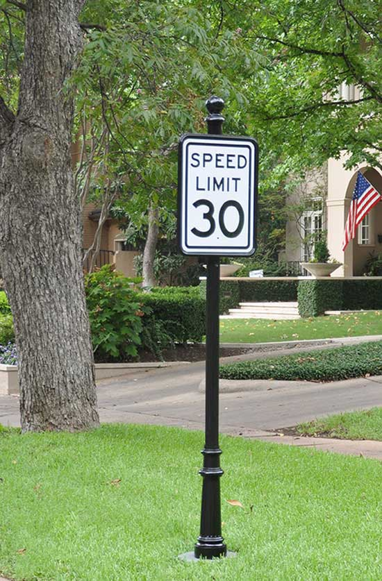 Decorative Speed Limit Sign