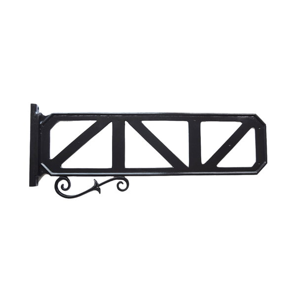 "9"" X 36"" Decorative Street Sign Frame With Scroll"