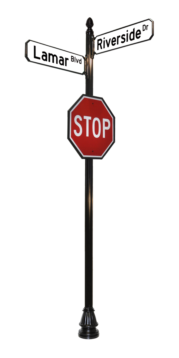 4 inch wide sign pole stop sign