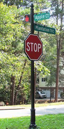 cap street stop sign