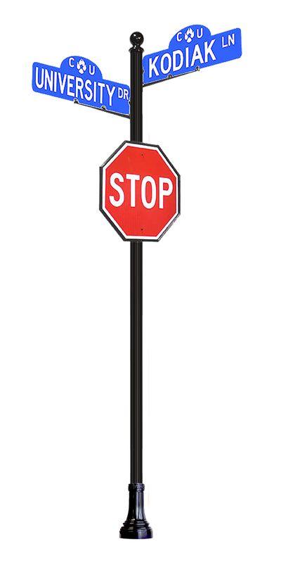 Decorative Street Sign Post