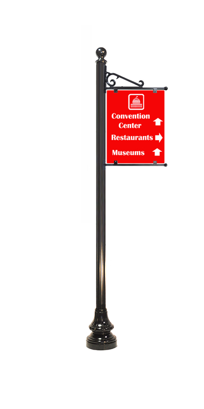 way finding sign 2 with scroll