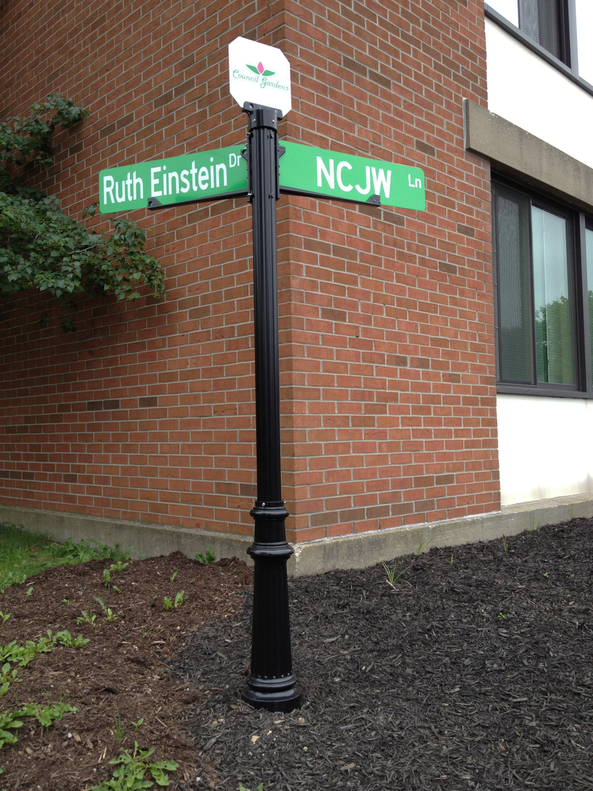 Council Gardens Ornamental Street Sign