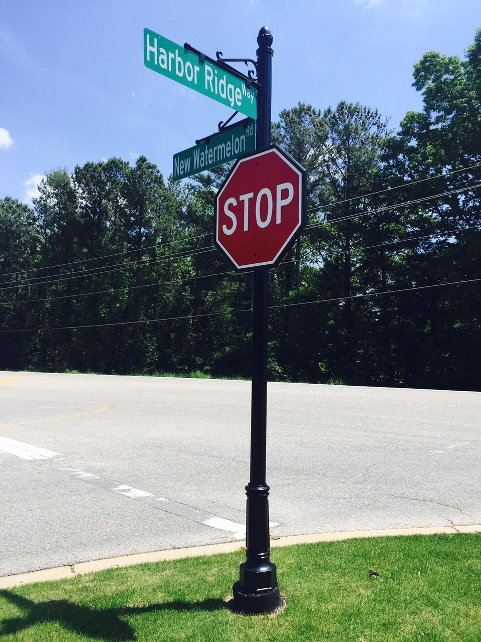 Harbor Ridge Decorative Stop Sign