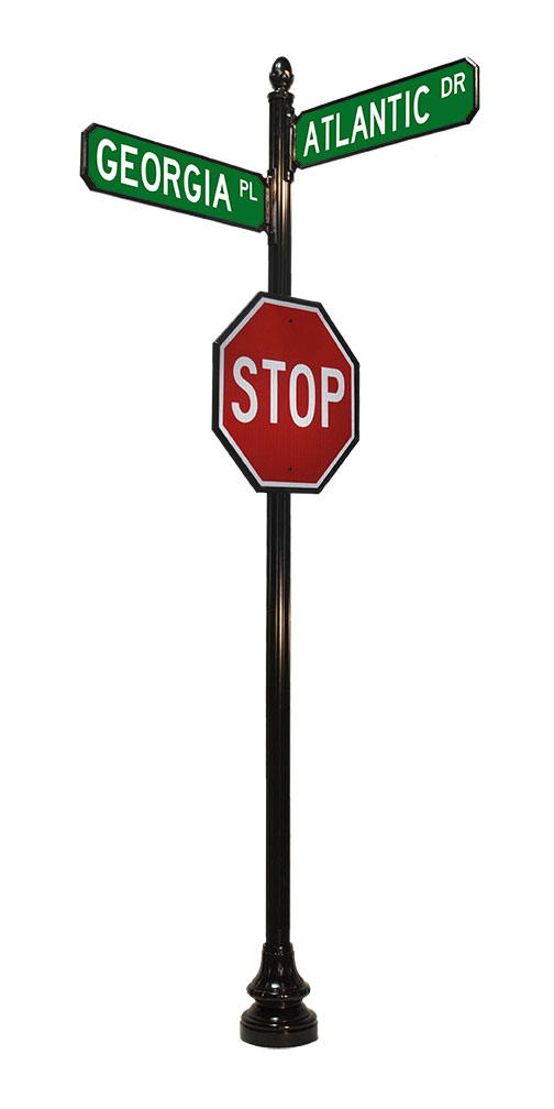 4 inch by 14 foot stop and traffic sign