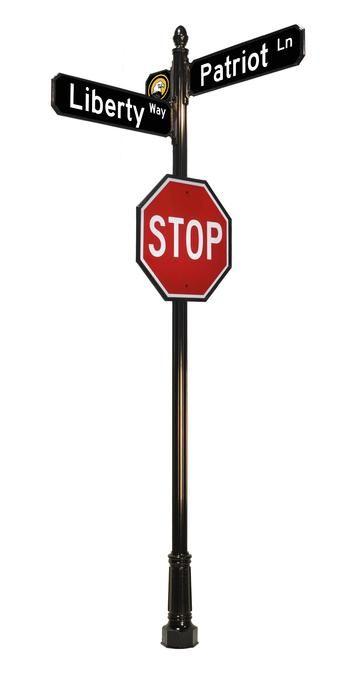 Ornamental Street Sign Post