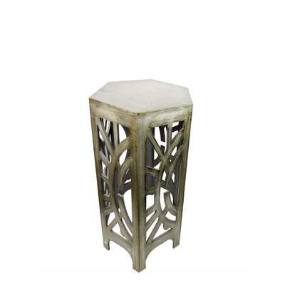 Brushed Metal Side Table.png