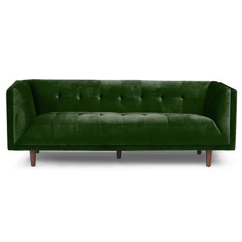 Emerald Velvet Chesterfield Sofa Rental