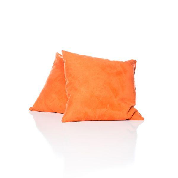 Large Suede Orange Pillow