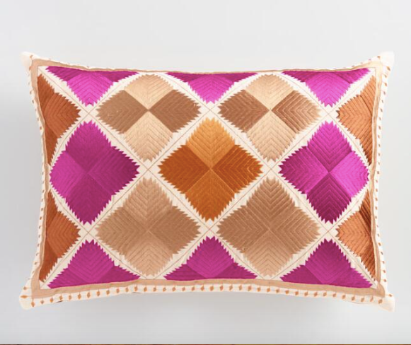 Fuchsia _ Orange Diamond Lumbar Pillow.png