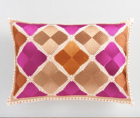 Fuchsia _ Orange Diamond Lumbar Pillow.png