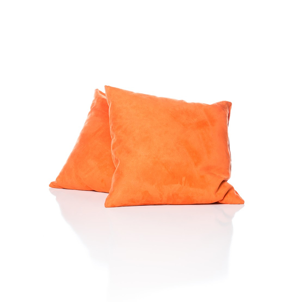 Large Suede Orange Pillow