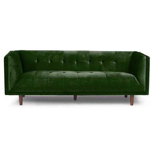 Emerald Velvet Chesterfield Sofa