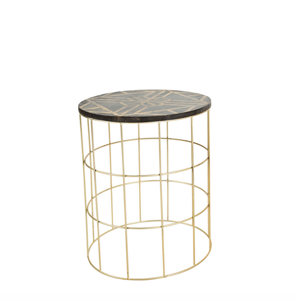 Gold and Wood Barrel Side Table.png