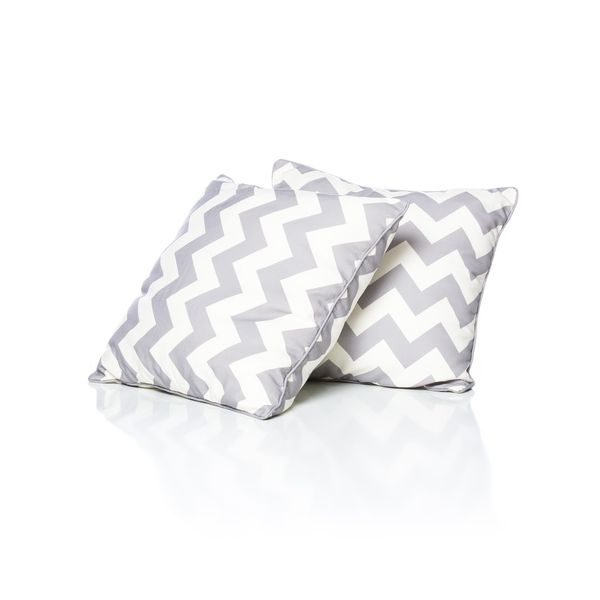 Large Grey Chevron Pillow