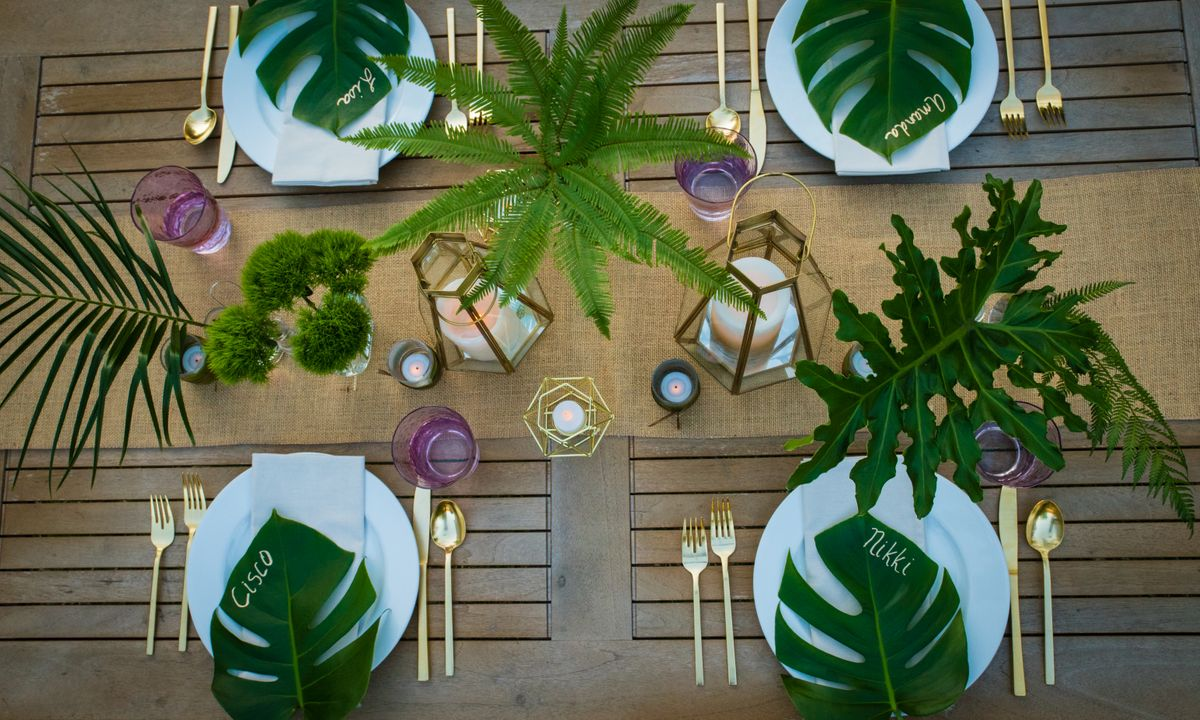 Outdoor Party Tablescape