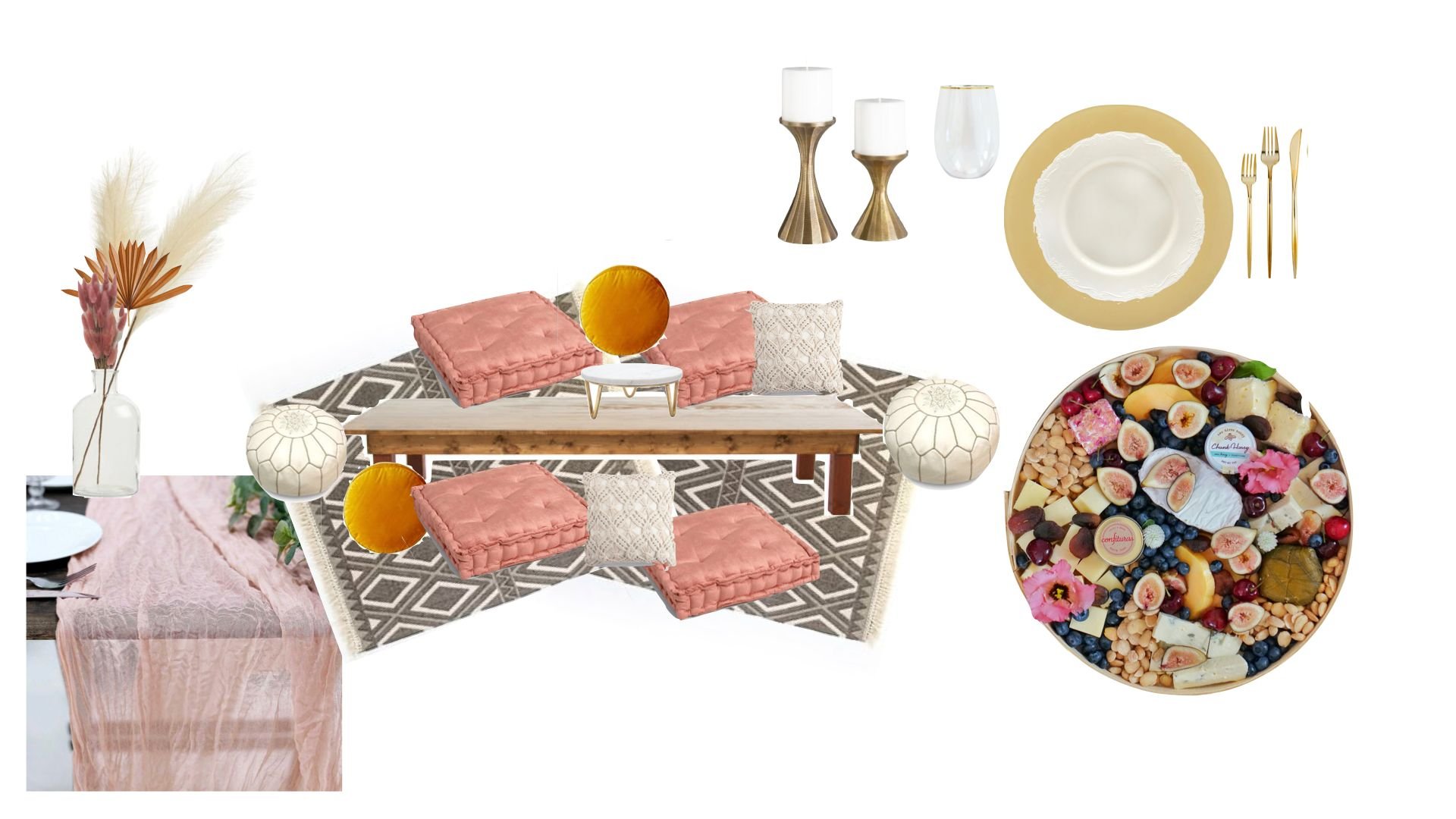Dreams Pop Up Picnic Package Components