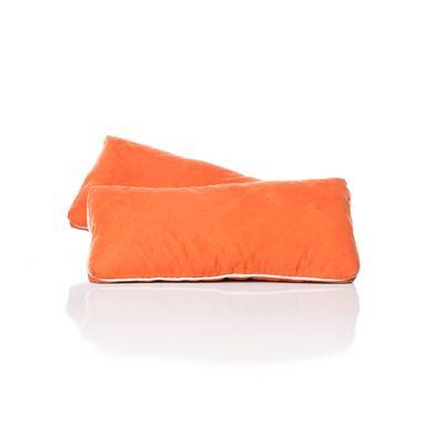Orange Suede Lumbar Pillow