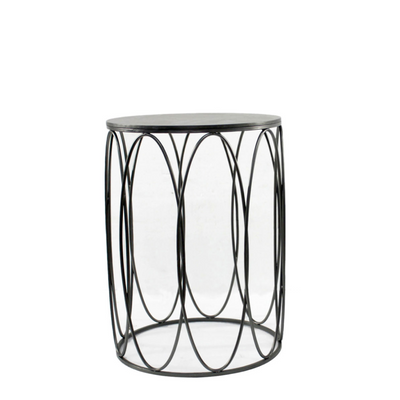 Black Oval Side Table.png