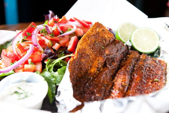Blackened Tilapia Salad