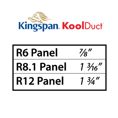 Kingspan KoolDuct R6, R8 and R12 Insulation
