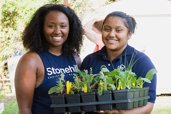 2018-09-27 STH Ladies with Seedlings