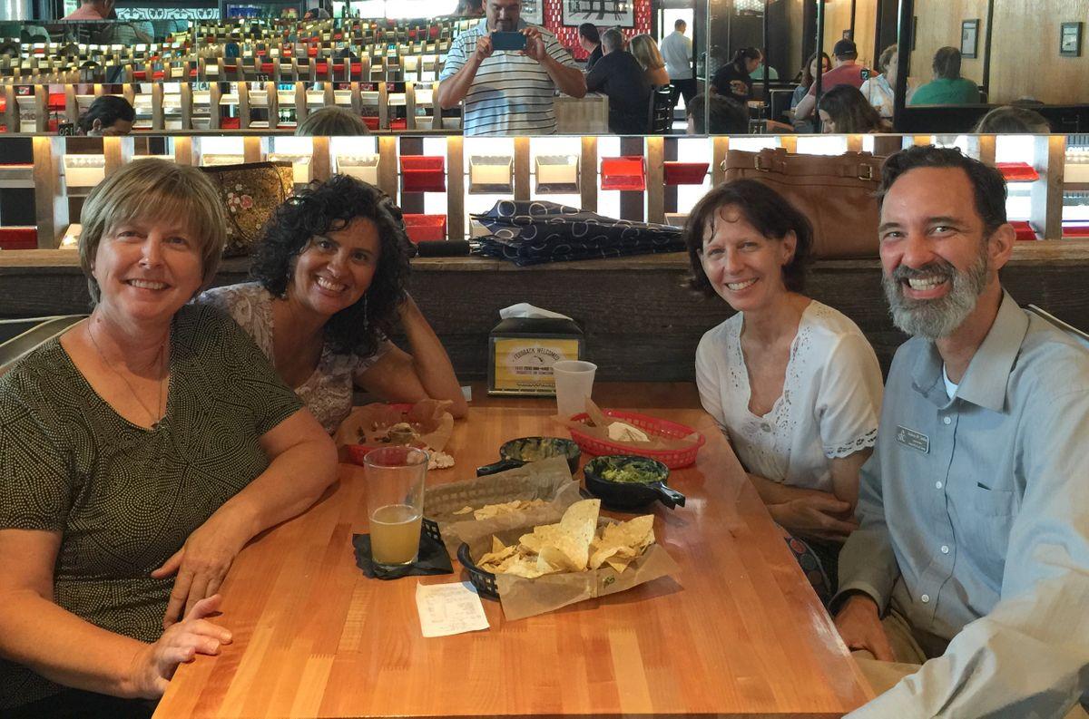 Suzanne Santos, Andrew Smiley and Debi Vanwey