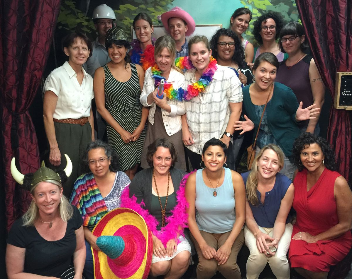 Staff at Escape Room in 2016