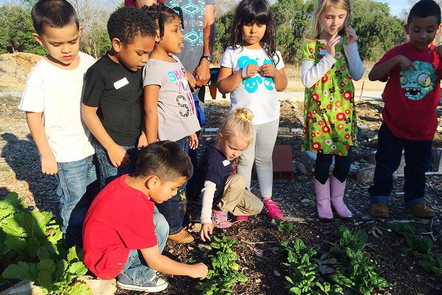 Kids in Garden