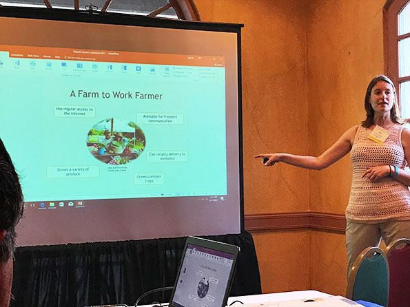 Joy Casnovsky, SFC Deputy Director Presents at Hispanic Farmer Conference