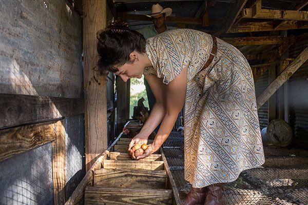 Katherine in Chicken Coop