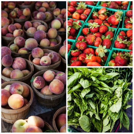 Fruit and Herb Photo Collage