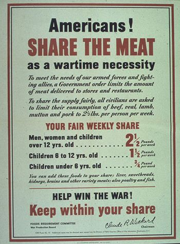 WWII Rationed Food Poster