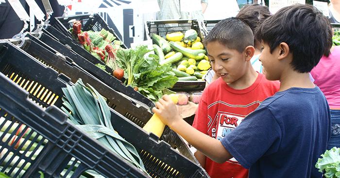 Boys at Farmers' Market