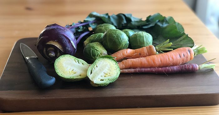Veggies on Cutting Board