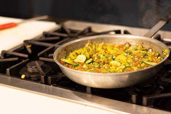 Kitchen Pan on Stove