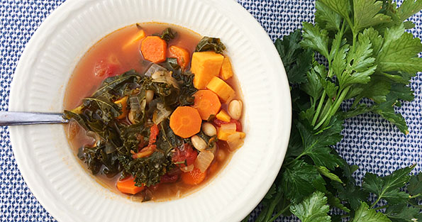 White Bean & Kale Soup Vegetarian