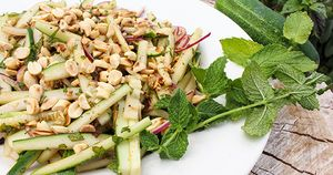Thai Cucumber Salad Horizontal