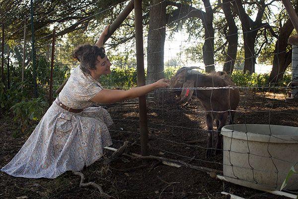Katherine with Goat